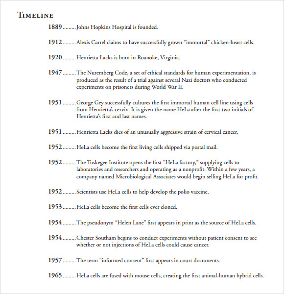 Xoom history timeline example letters