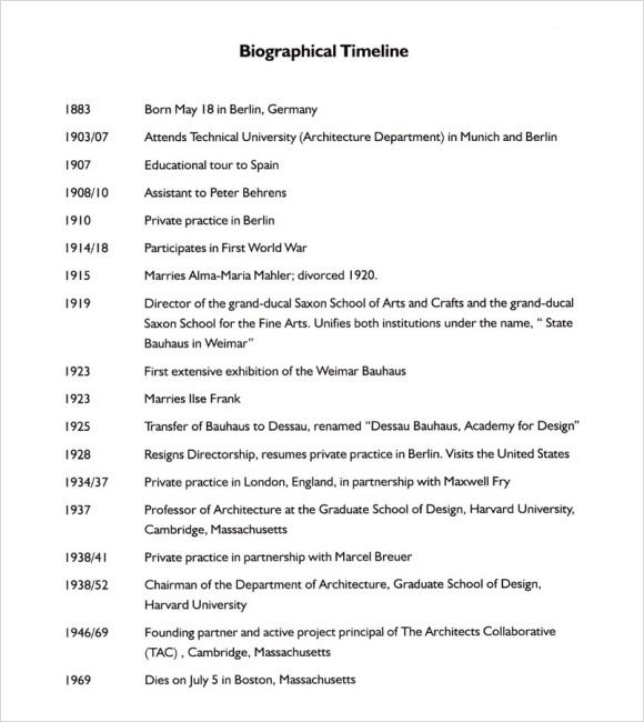 8  biography timeline templates