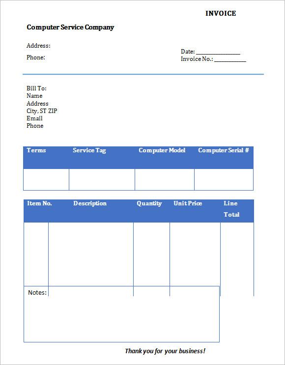 blank service invoice template   doc - www.mittnastaliv.tk, Invoice templates