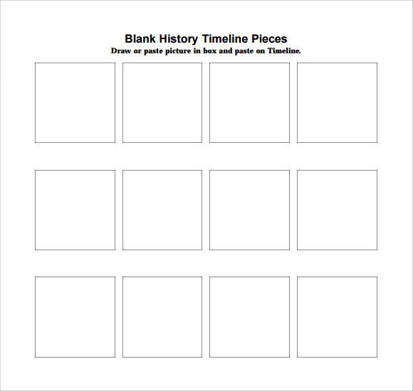 blank histroy timeline template