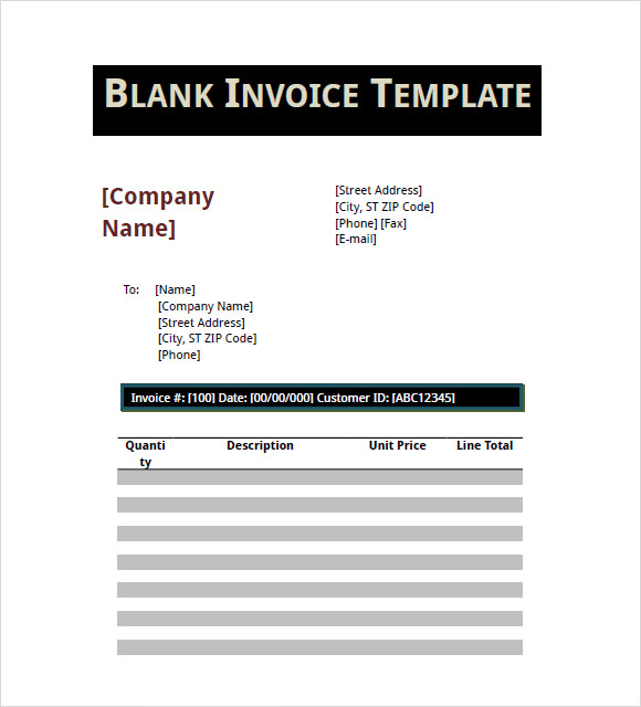 Basic Invoice Template   Free Samples Examples Format
