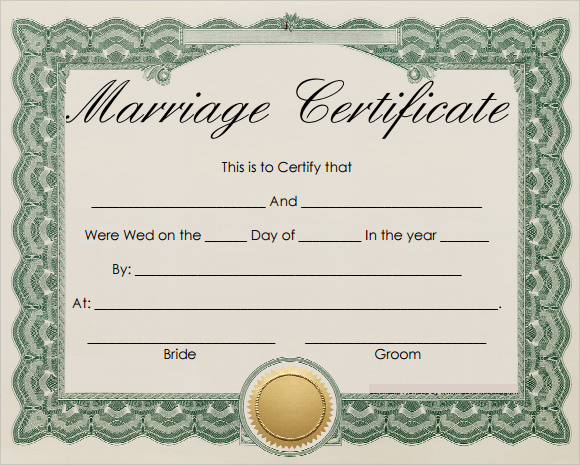 19 marriage certificate templates sample templates