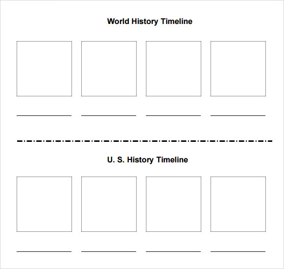 blank timeline template for students