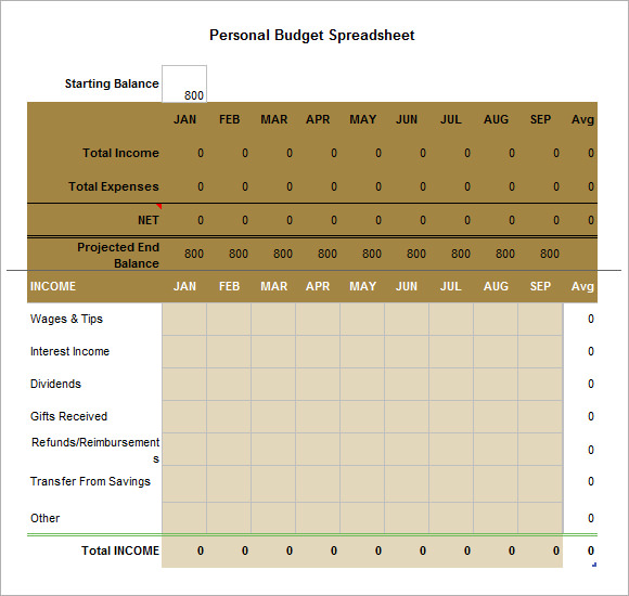 download budget sheet