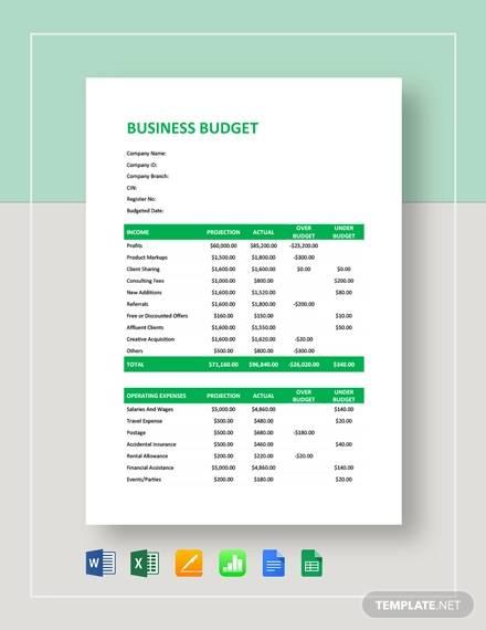 business budget template1