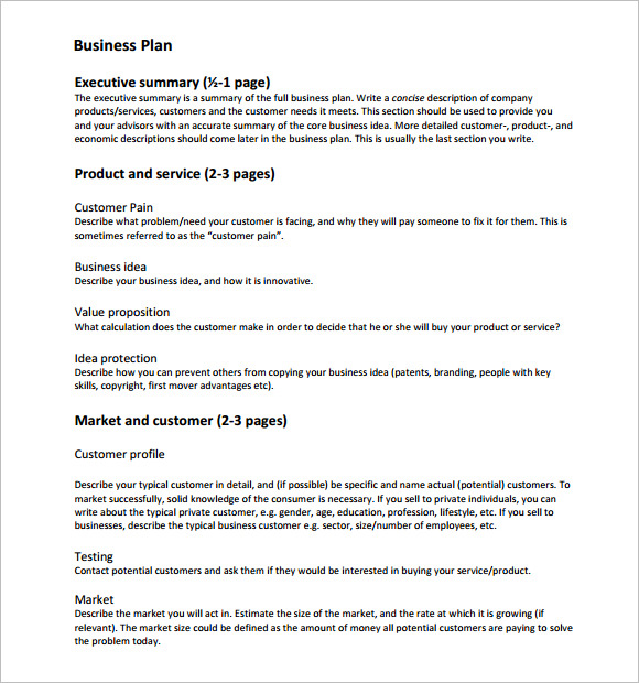 Start up business plan template startup business plan template pdf friedricerecipe Choice Image