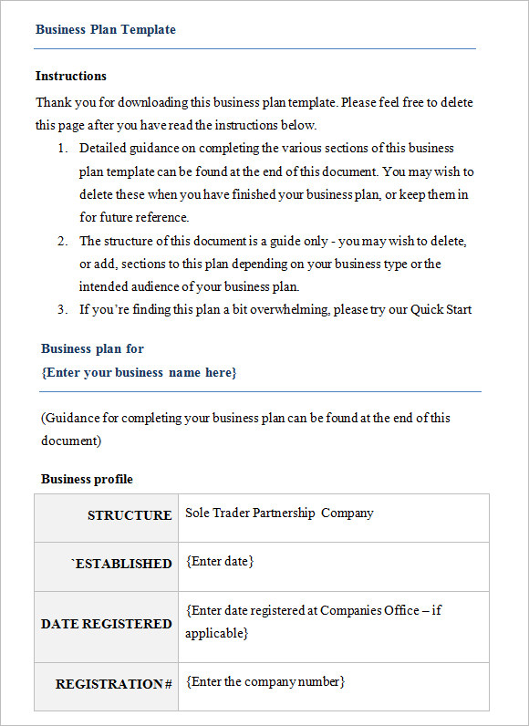 11 business plan templates free samples examples format business plan template free download1 flashek Image collections
