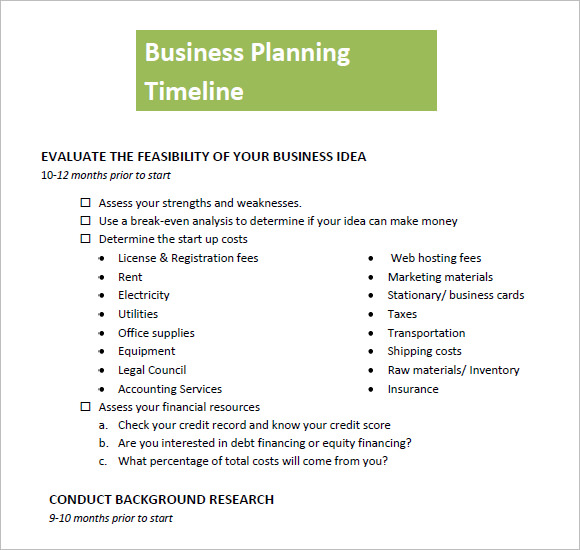 businessplanningtimeline pdf 1