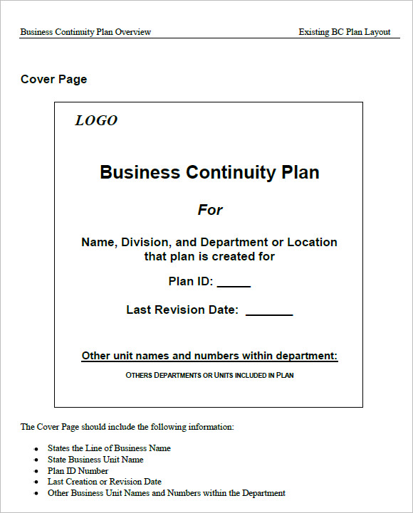 Sample business continuity plan template example business continuity plan irb pictures to pin on pinterest flashek Choice Image