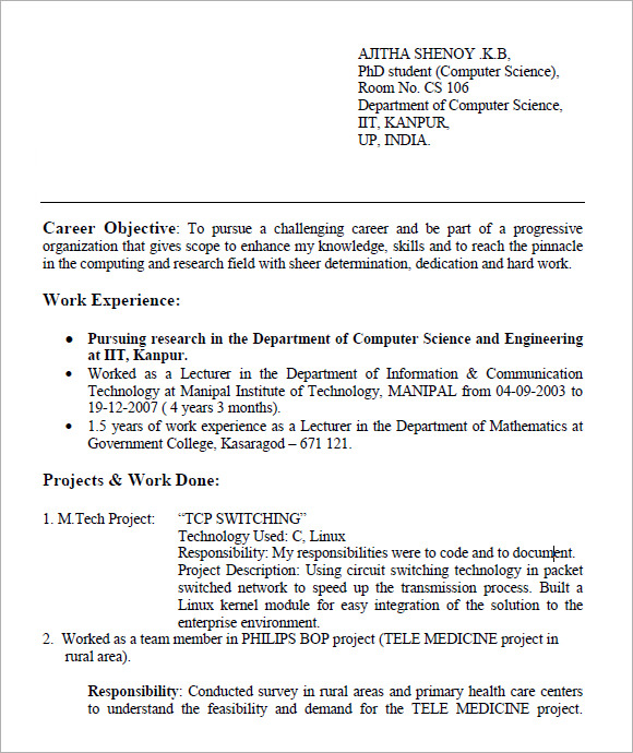 resume for freshers 7 free samples examples format