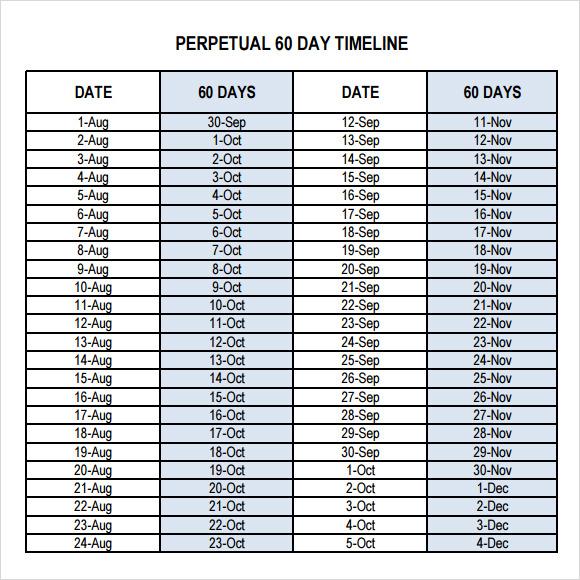 calendar timeline slide template