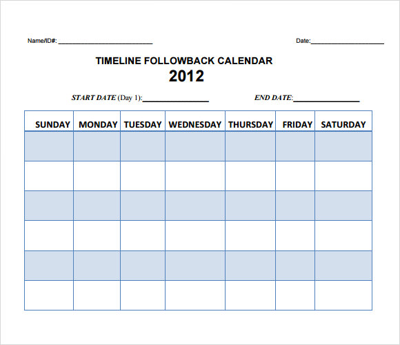 Calendar Timeline Sample - 8+ Documents in PDF, Word