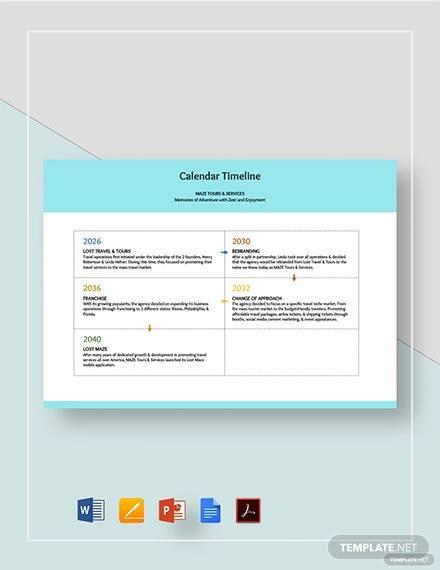 calendar timeline template