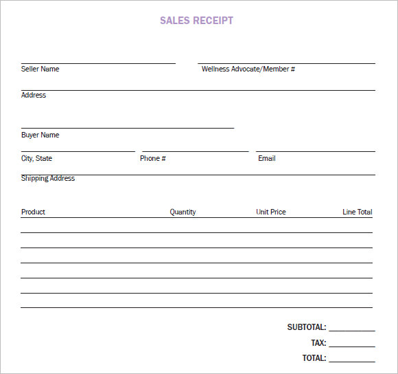 9 sales receipt templates free samples examples format sample