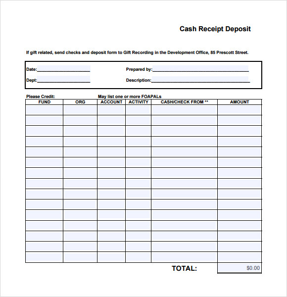 image regarding Printable Cash Receipt identify No cost 9+ Printable Receipt Templates in just Cost-free Samples