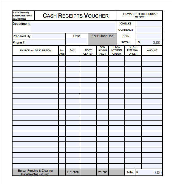printable cash receipt template .