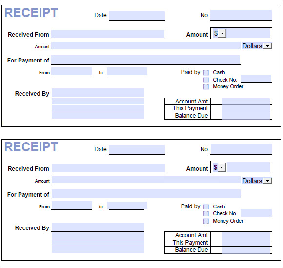 11  business receipt templates  u2013 free samples  examples