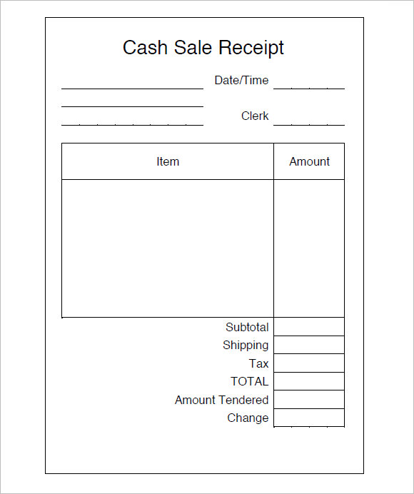 8 Sales Receipt Templates Free Samples Examples Format – Sales Receipt Template