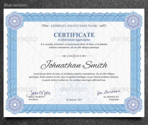 Doc580444 Training Certificate Template Free 6 Free Training – Sample Training Certificate