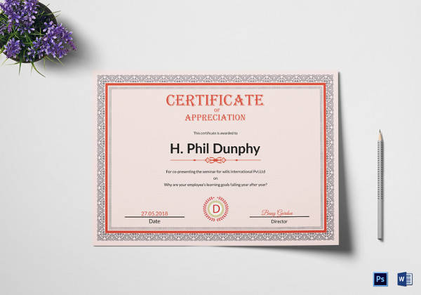 certificate of appreciation template1