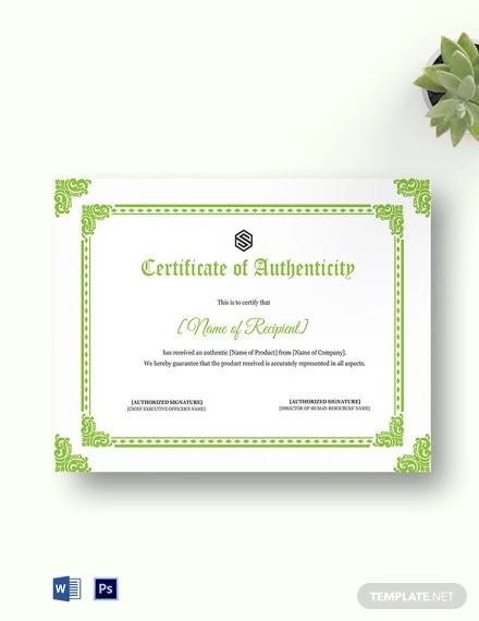 certificate of authenticity template1