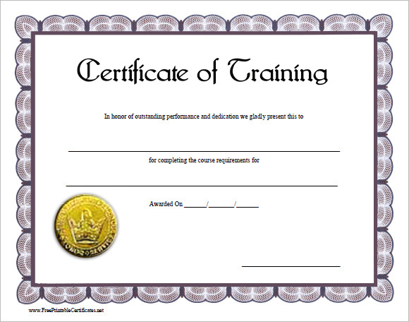 Training completion certificate template yelopaper Gallery