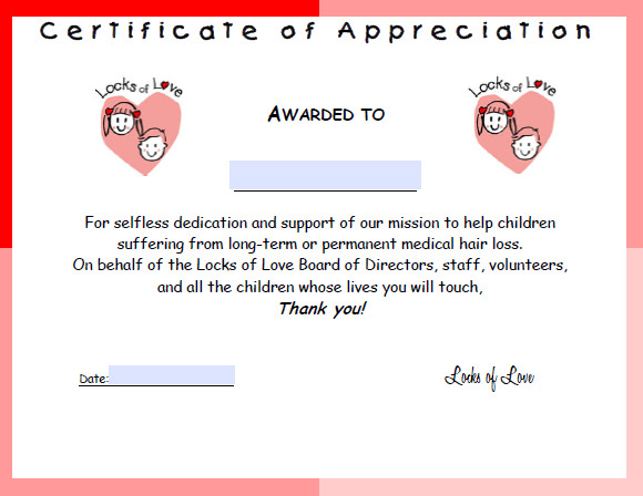 9 Certificate of Appreciation Templates Free Samples Examples – Certificate of Appreciation Wording Examples