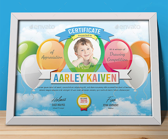 sample certificate templates for kids 9 free documents