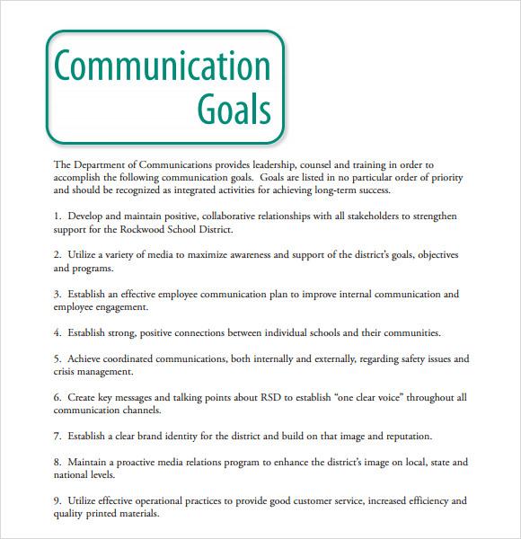 communications plan template pdf
