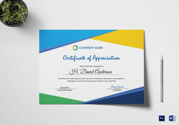 21 certificate of appreciation templates free samples examples