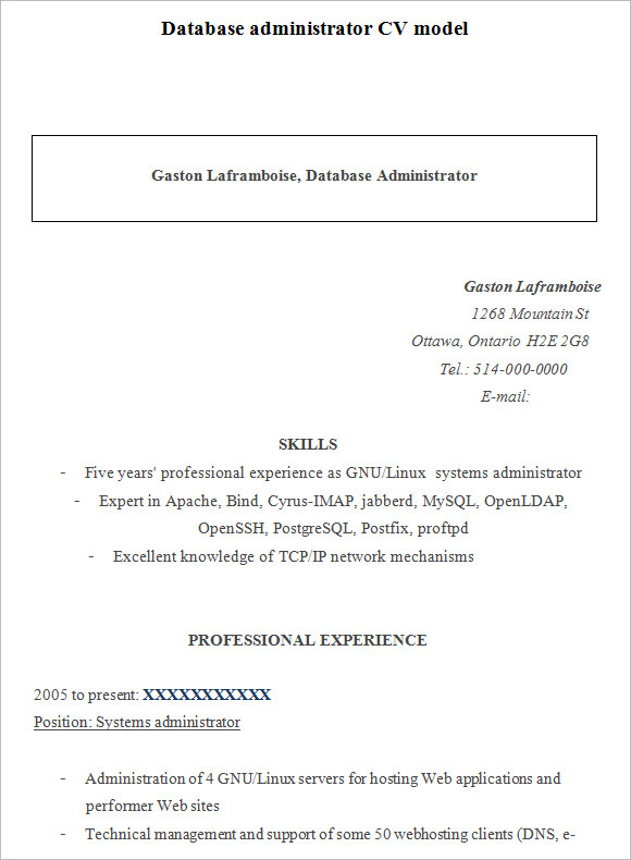 sample database administrator resume documents in pdf word oyulaw top database administrator resume samples in this - Database Administrator Resume Examples