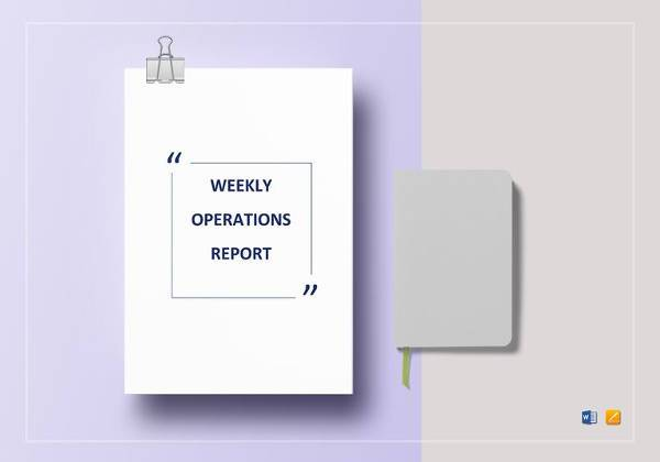 easy to print weekly operations report template