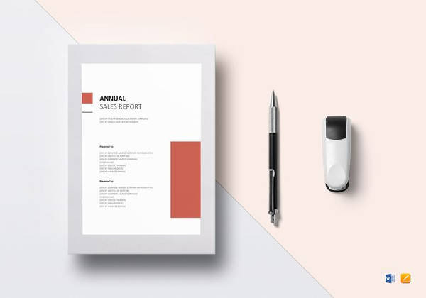 editable annual sales report template