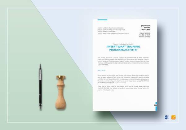 editable training survey template