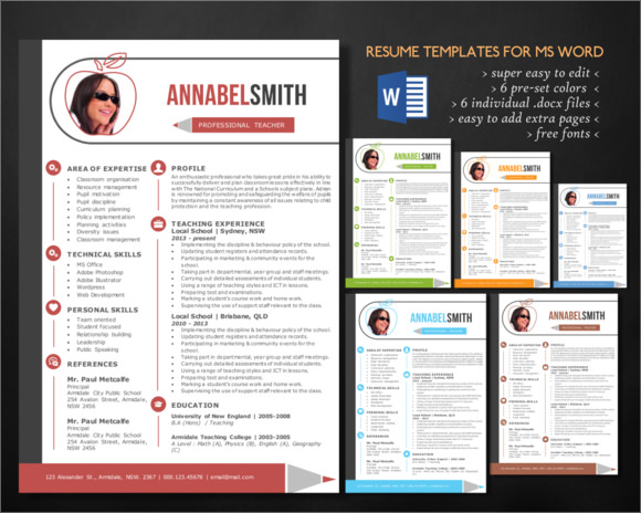 Teacher Resume - 9+ Samples, Examples, Format