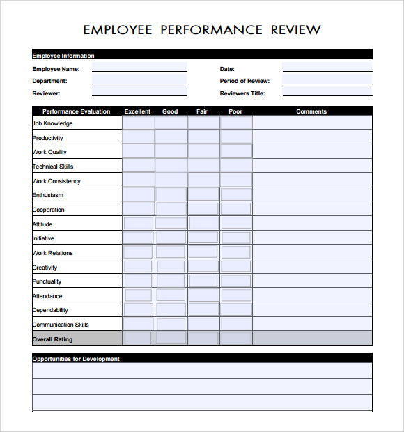 Sample Manager Evaluation   Documents In Pdf Word
