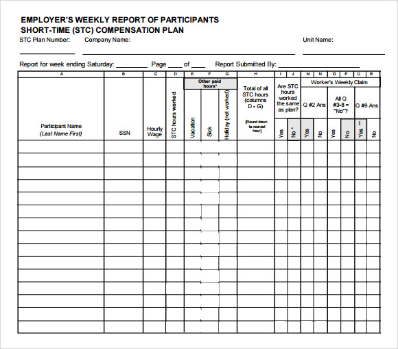 Doc585650 Employee Weekly Report Doc444575 Weekly Employee – Sample Weekly Report
