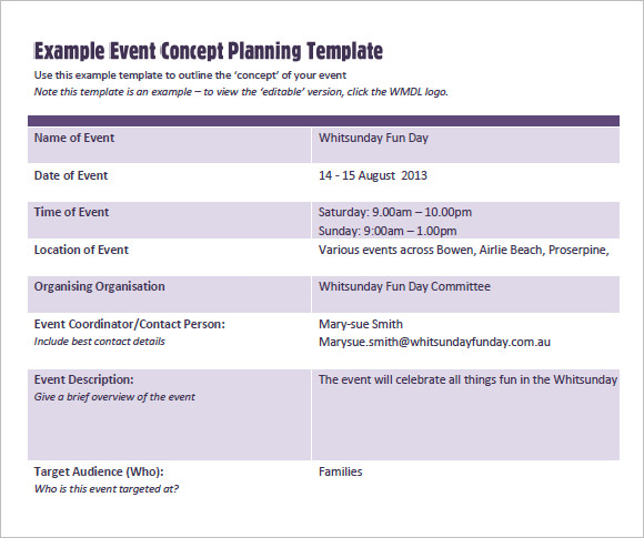 Starting an event planning company sample business plan template starting an event planning company sample business plan template accmission Choice Image
