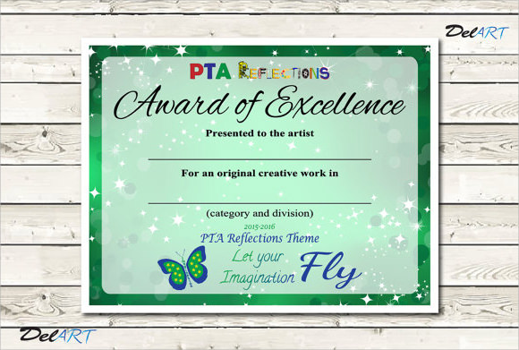 Excellence Award Template  Certificates Of Excellence Templates