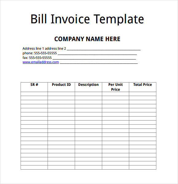9 billing invoice templates free samples examples format sample templates. Black Bedroom Furniture Sets. Home Design Ideas
