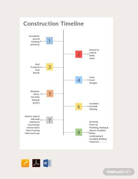 free construction timeline template1
