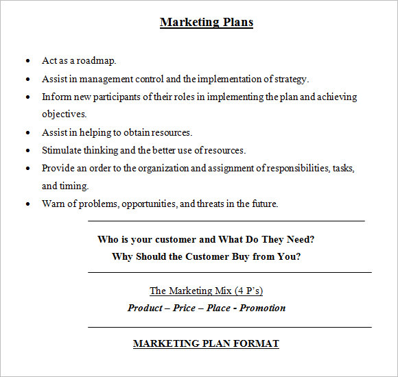Sample Marketing Plan   Examples Format