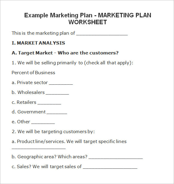 free marketing planning guide