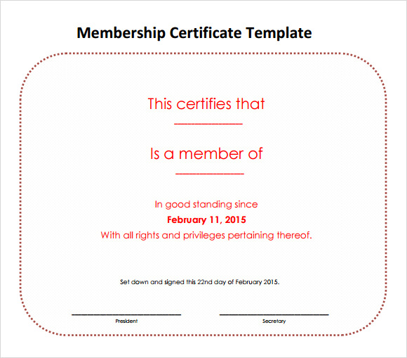 15 membership certificate templates  u2013 free samples