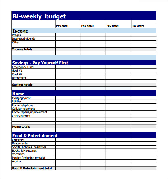 free 10  weekly budget in google docs