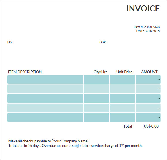 commercial invoice template – 8+ free samples , examples , format, Invoice examples
