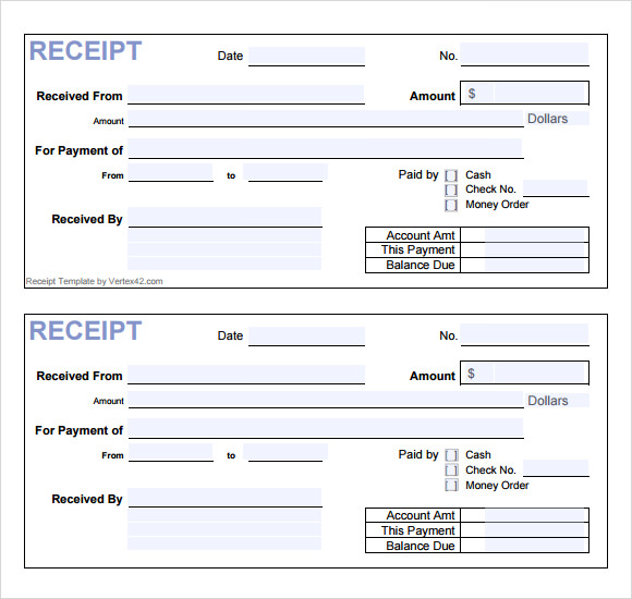 General Receipt Template Free  Payment Received Format