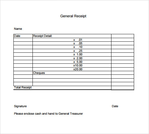 free general receipt template