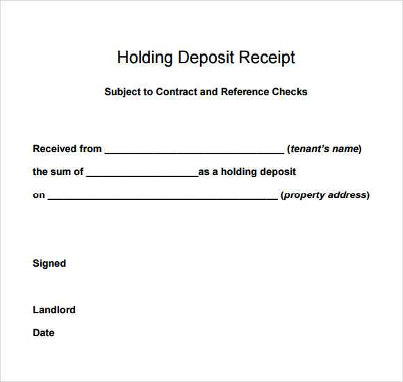 rent receipt book template free – Rental Receipt Letter
