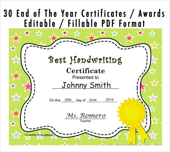 Award Certificates Templates For Kids baseball award certificate – Certificate Template for Kids